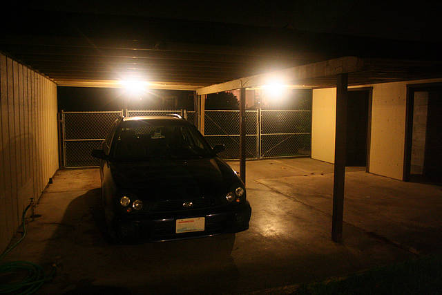 New Lights In Our Carport Kevinfreitas Net