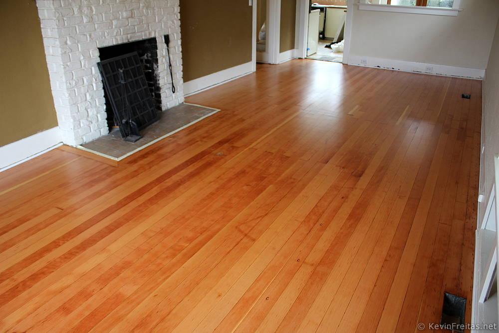Shiny new floors for Hardwood floors not shiny